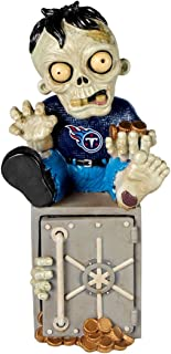 Forever Collectibles Tennessee Titans Zombie Figurine Bank