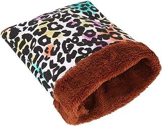 Ofanyia Ciepły pluszowy chomik łóżko dom miękka świnka morska łóżko gniazdo szczur małe zwierzęta mysz śpiwór dom akcesori...