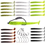 YONGZHI Fishing Lures for bass Trout Walleye Paddle Tail swimbaits Fishing Worms...