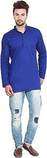 Maple Clothing Indian Clothing Fashion Shirt Mens Short Kurta Cotton India Dress