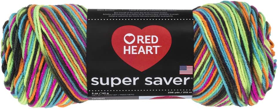 High order Red Heart Super Saver Econ Blacklight Yarn Max 81% OFF