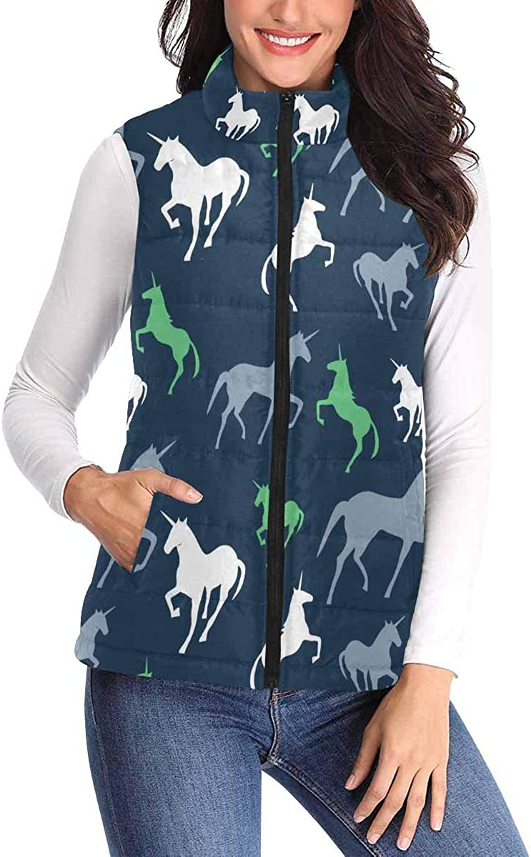 InterestPrint Women's All Over Print with Big Pocket Vest Padded High material Large special price !!