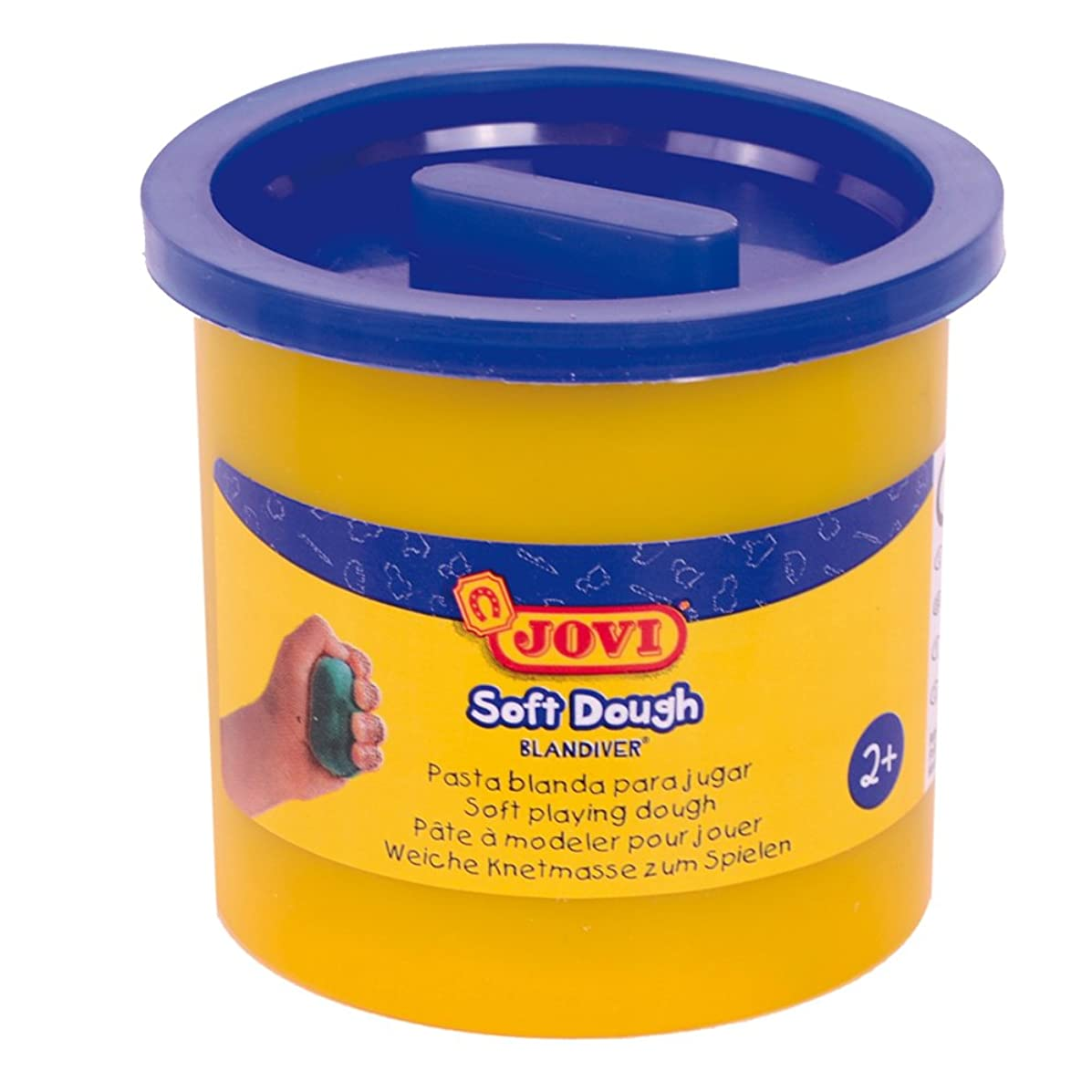 Jovi?–?Soft Dough blandiver, Case of 5?Jars, 110?g, Blue (45005)