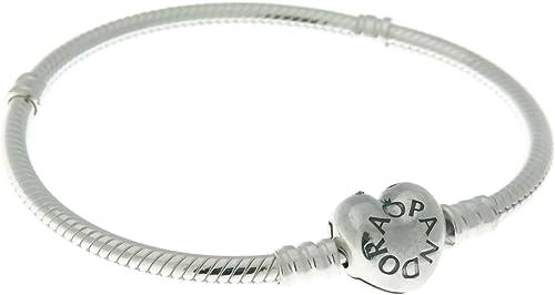 Pandora 590719pulsera de cierre de corazón de plata de ley