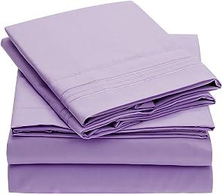 Mellanni Bed Sheet Set Brushed Microfiber 1800 Bedding -...