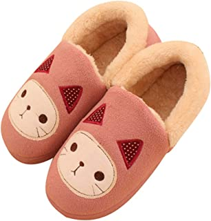 cici shoes Womens Comfort Warm Faux Fleece Fuzzy Ankle Bootie Slippers Plush Lining Slip-on House Shoes Anti-Slip Sole Indoor//Outdoor