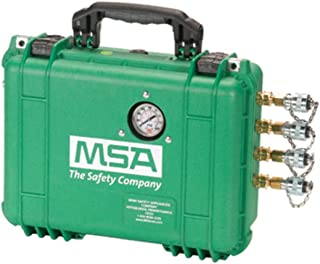 MSA 80 CFM Point Of Attachment Box With Pressure Regulator, Gauge, Single Stage Filter, 4-Outlets And Hansen Brass Quick Disconnects