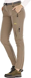 DAFENP Pantalones Trekking Mujer Impermeable Pantalones de