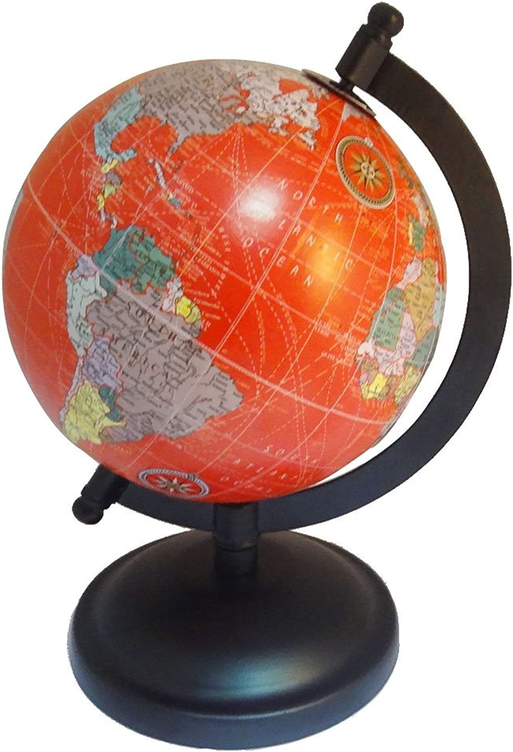 Hand Made World Map Desktop Small redating World Earth Globe Pink Ocean 5  Plastic Ball Table Décor 8  Tall Globes