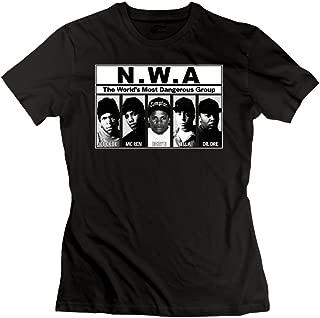 UrsulaA Womens Fashion NWA T Shirts Black