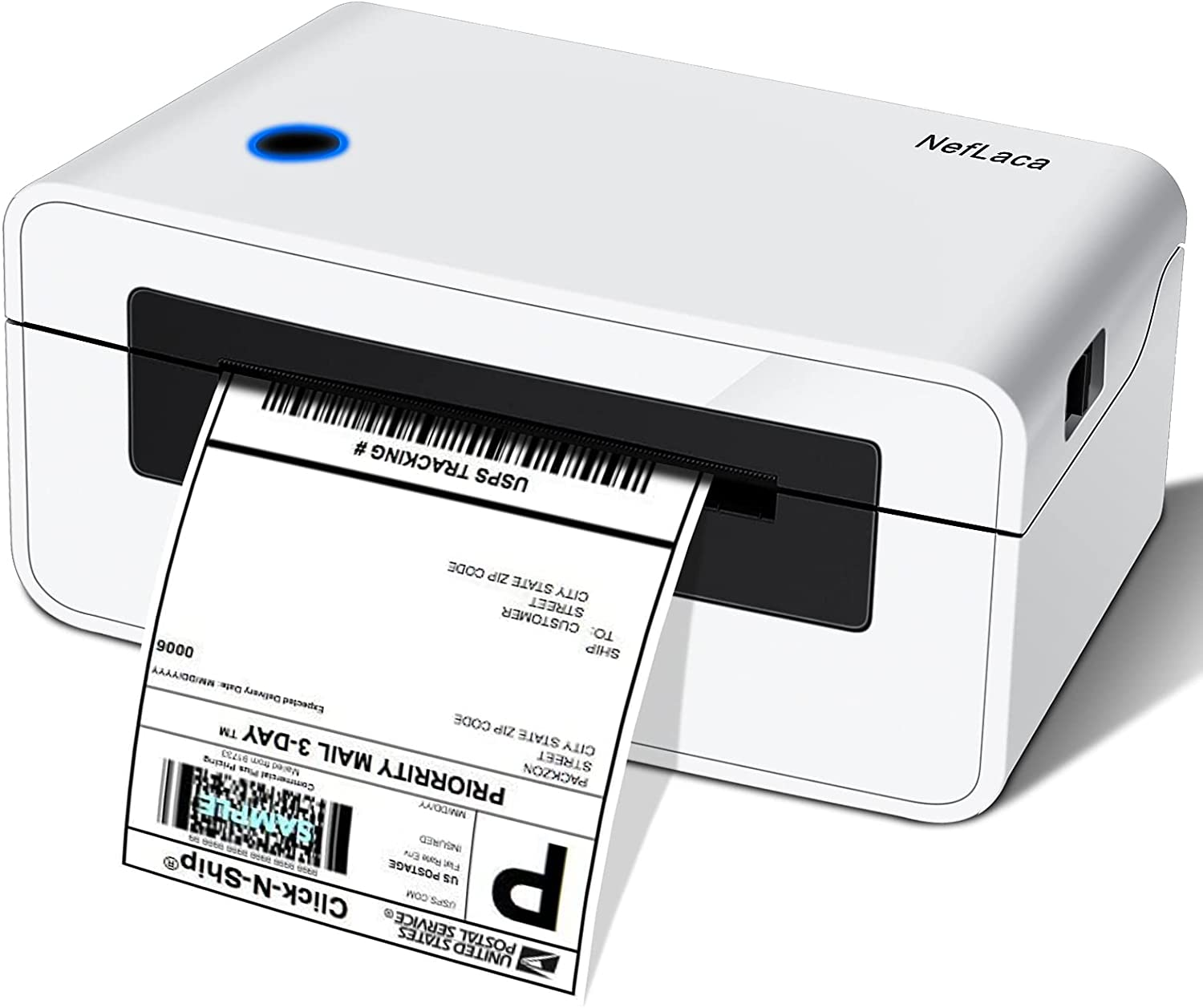 Thermal Label Printer - with 4X6 100 Pcs Direct Thermal Shipping Labels for Shipping Packages Postage Home Small Business, Compatible with Etsy, Shopify,Ebay, Amazon, FedEx