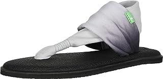 صندل حريمي Sanuk Yoga Sling 2 ، أسود/أبيض ، 7 M US