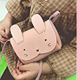 Charmly Cute Fashionable Handbag Shoulder Bags Small Coin Purse Crossbody Bags PU Leather for Children Kids Girls Toddler Baby Girls Little Girls Pink-Rabbit