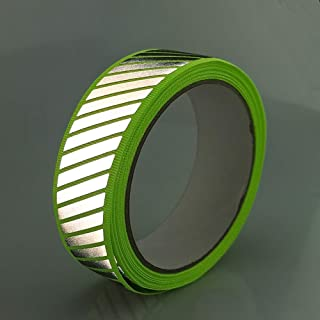 Sew On Silver Reflective Fabric Tape Webbing Ribbon for Clothing Stripe Green 16.5ft