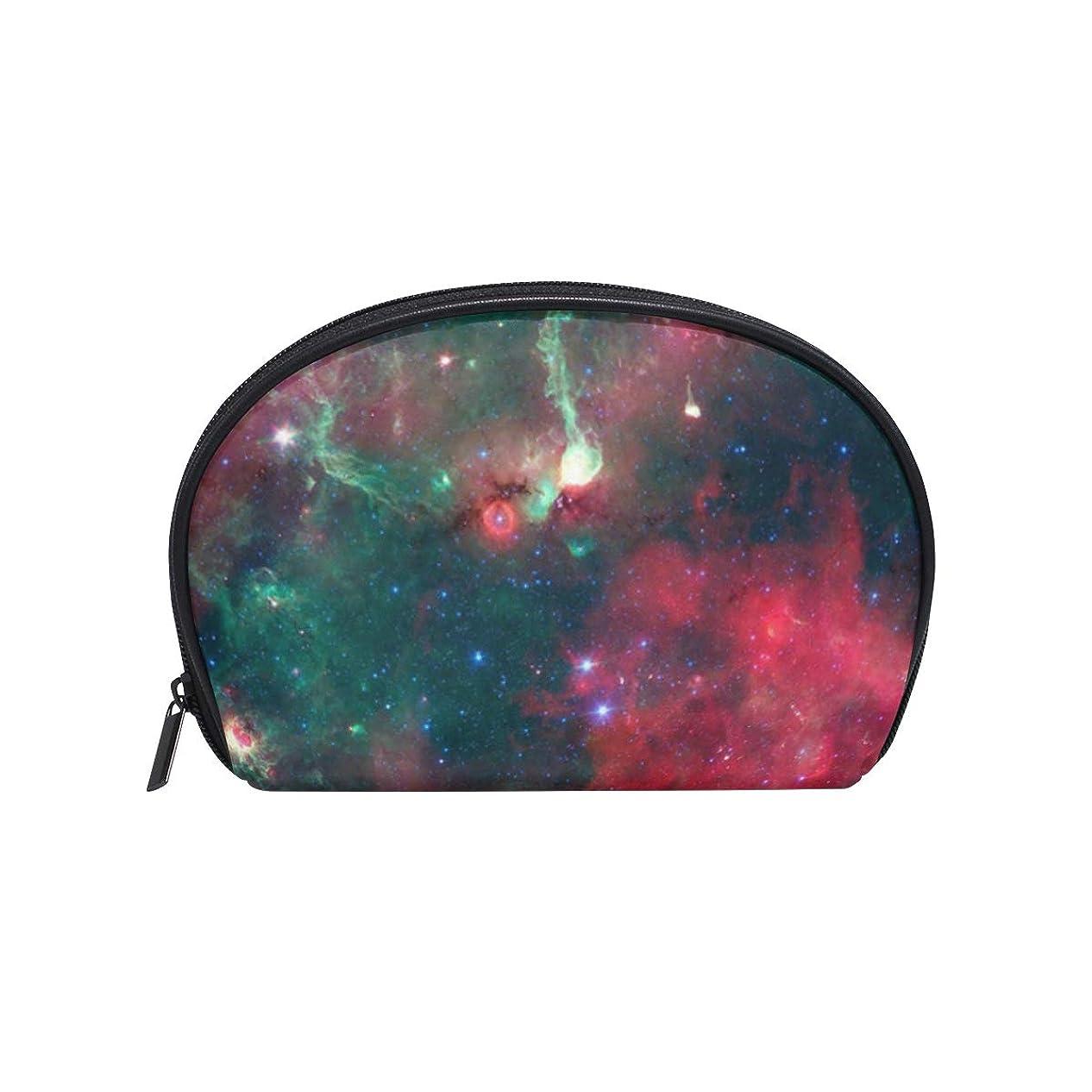 歴史的有罪勧めるスペース 星雲 宇宙 半月 化粧品 メイク トイレタリーバッグ ポーチ 旅行ハンディ財布オーガナイザーバッグ