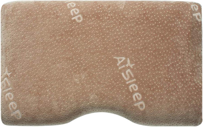 Oreillers en mousse à mémoire de forme - Oreiller ergonomique de contour orthopédique - Oreiller de lit idéal pour dormir - Housse respirante lavable 50 x 30 cm