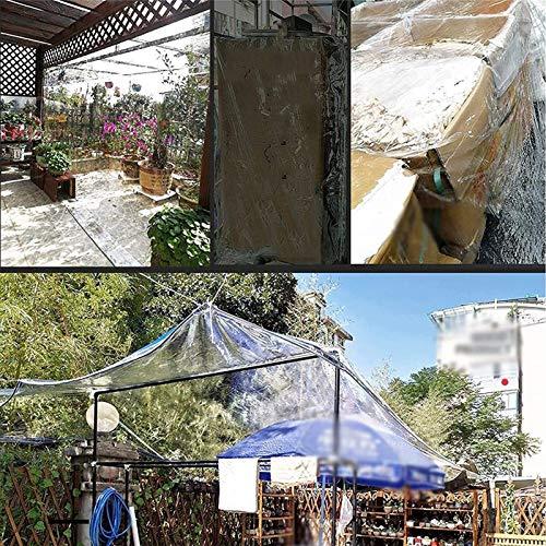ETNLT-FCZ Transparente Plane Für Gartenmöbel Pflanzendach Regenschutz UV-beständige, Reißfeste Plane (Size : 0.7x1.4m)