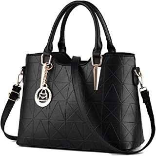 LIZHIGU Womens Leather Shoulder Bag Tote Purse Fashion Top Handle Satchel Handbags