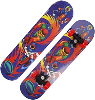Mini Complete Skateboard-Beginner Skateboard 23.6 Inch Anime Ice Hockey Master Pattern Children Skateboard Suitable for Children Over 3 Years Old