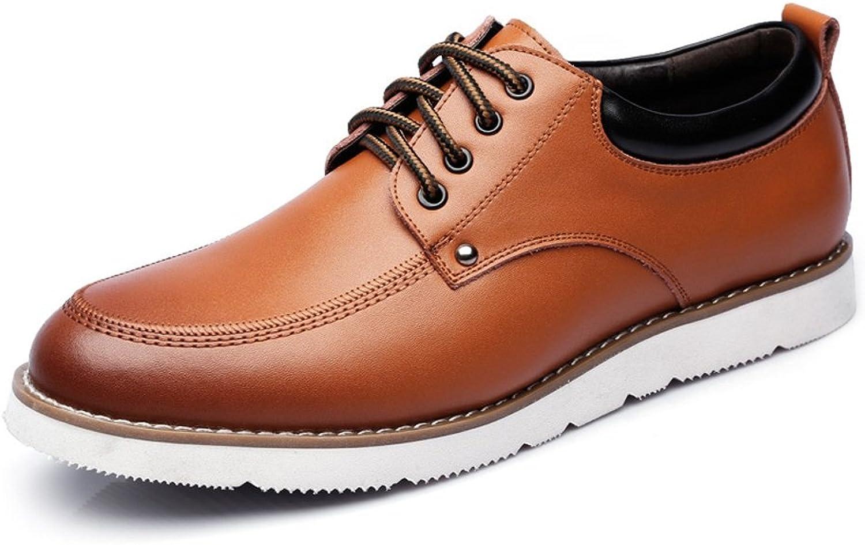 JIALUN-Schuhe Lace Up Loafers PU-Leder-beiläufige Geschäft weiche Ebenen-Sohle Oxfords (Farbe   Braun, Größe   9 UK)  | Clearance Sale