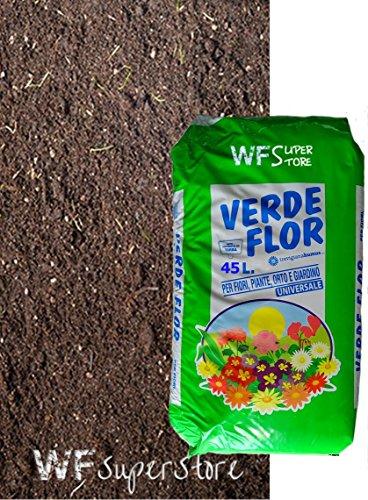 WUEFFE Terriccio Universale Biologico 70% Torba - Sacco da 45 lt. - orto Fiori Piante Prato 80 50