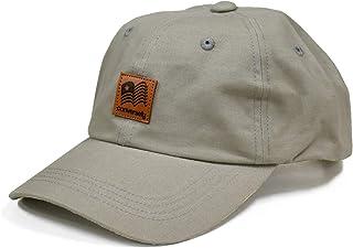 [ランスコ] 帽子 メンズ キャップ 黒 ホワイト 大きいサイズ 刺繍 ロゴ デザイン アジャスター付 フリーサイズ 6パネル ローキャップ 男女兼用 ブランドカジュアル CAP