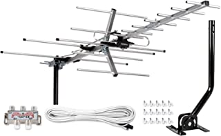 [Newest 2020] Five Star Yagi Satellite HD TV Antenna up to 200 Mile Range, Attic or Roof Mount TV Antenna, Long Range Digi...
