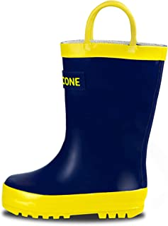 LONECONE Rain Boots with Easy-On Handles for Toddlers and Kids
