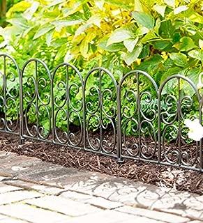 Plow & Hearth Wrought Iron Edging Panels in Montebello Design