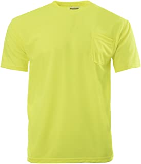 High Visibility T-Shirt with Pocket Short Sleeve