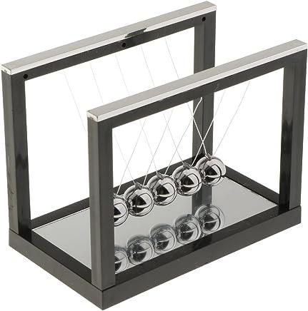 Gazechimp Newtons Cradle Berceau Balls Toy en Acier Plastique Décoration Maison Table Cadeau Idéal - Noir-S