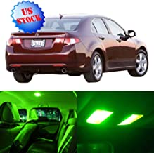 SCITOO LED Interior Lights 12pcs Green Package Kit Accessories Replacement for 2004-2008 Acura TSX