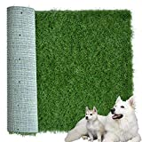 Artificial Grass Patch for Dogs Potty Training 39.3X 31.5 inches, Soft & Pet-Friendly Turfs Dog Pee Pads for Medium and Large Breeds Indoor/Outdoor Use