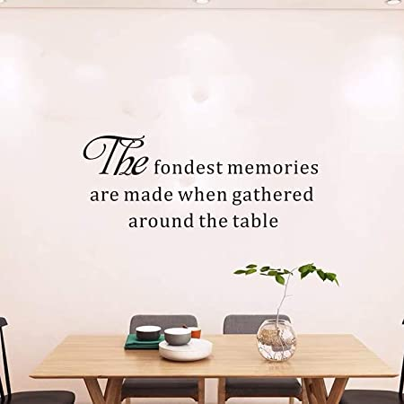 Decor Words for your wall Dining Room Fondest Memories are made when gathered around the table-Vinyl Lettering Quotes Kitchen
