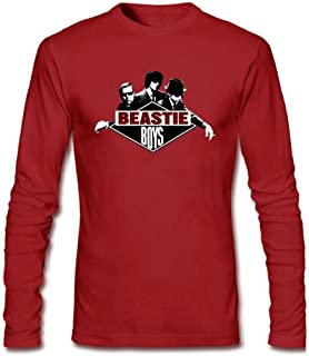 Men's Beastie Boys Logo Long Sleeve Cotton T Shirt