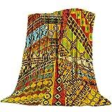 Manta Suave portátil Estilo étnico Africano Retro Manta cálida sofá Cama sábanas Decoraciones navideñas para Mantas para el hogar