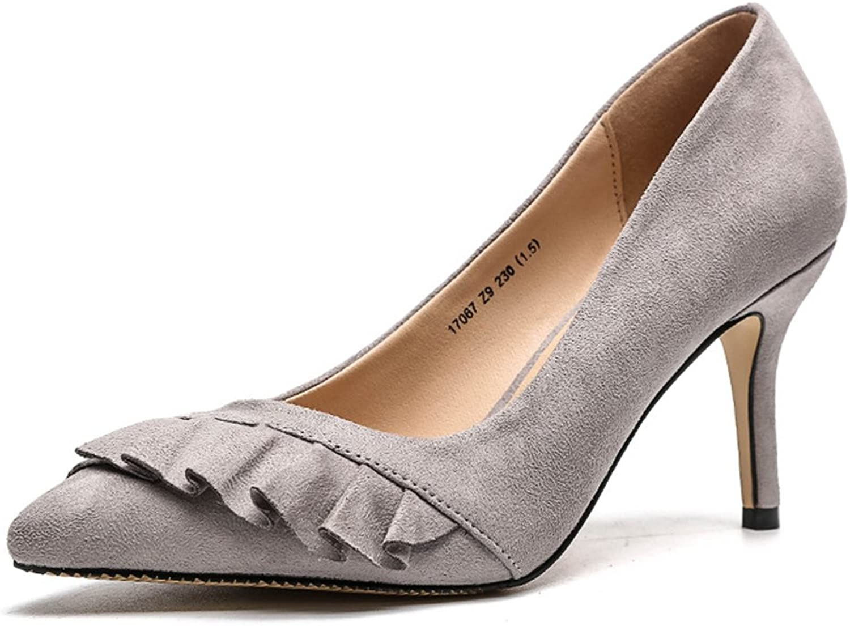 Coollight Pointed Cap Toe Pumps Comfortable Slip On High Heels Wedding Elegant Dress Formal shoes Women's High Heel Pump