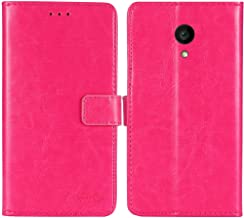 TienJueShi Rosa Book-Style Flip Leather Protector Case Cover Skin Etui Wallet for Allview P4 PRO 4.2 inch