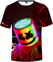 FLYCHEN Camiseta para Niños 3D Impresión Gráfica DJ Música Electrónica Cool Hip Hop Boy's Fantastic Shirt