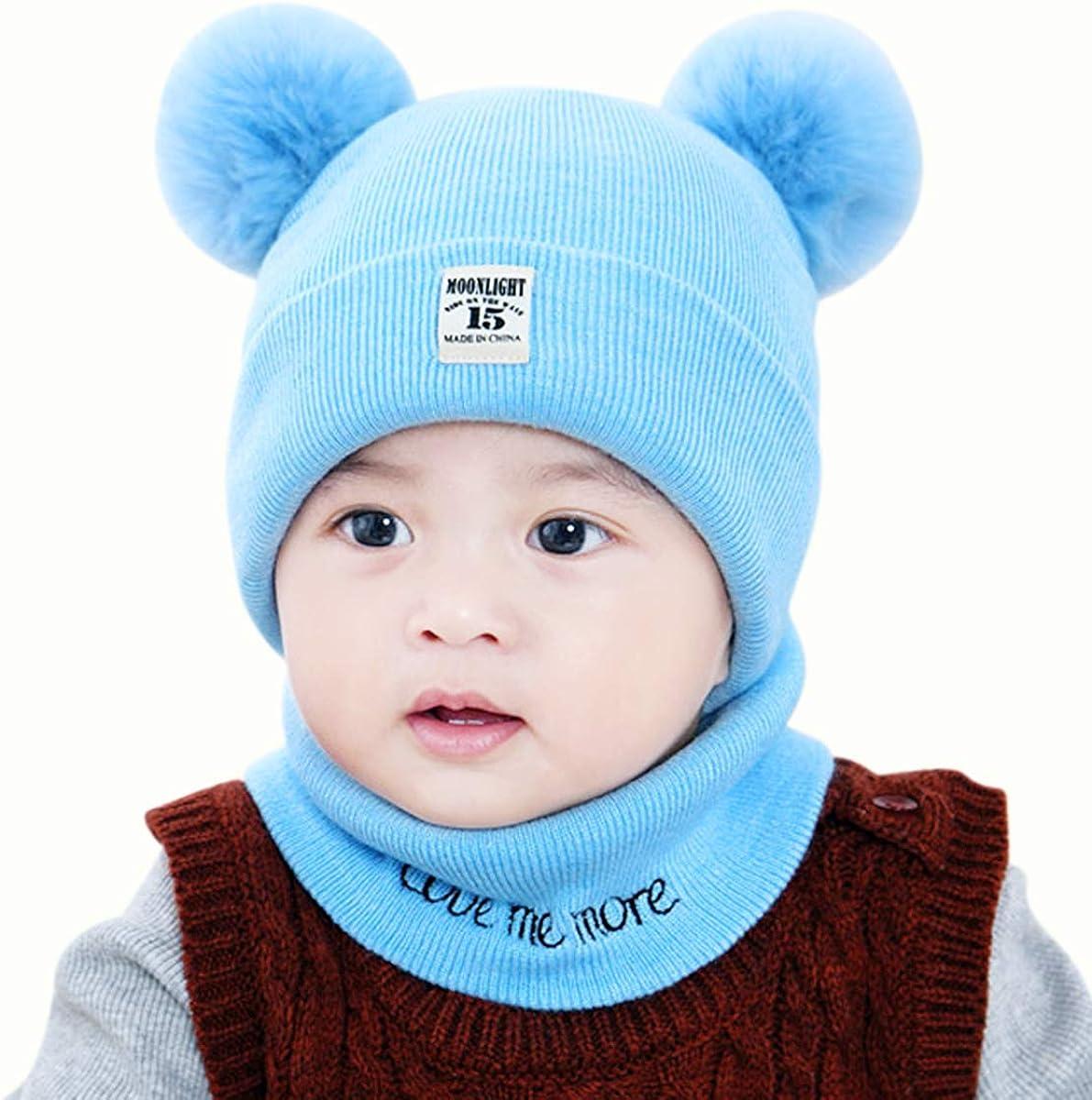 2PCS Kids Hat Scarf Set Toddler Girl Baby Boy OFFicial shop Winter Infant Now on sale Croc
