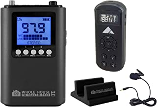 Whole House FM Transmitter 3.0 for TV, Home, Stereo w/Mini Pocket FM Radio
