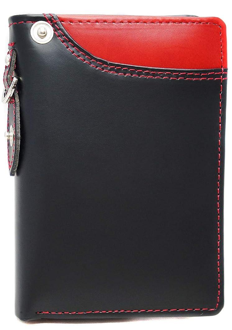 事アクセスできない権限を与える[High-end] 極上ドイツ製ボンデッドレザー 二つ折り 短財布 ミニ財布 YKK 大容量 ME0299_d