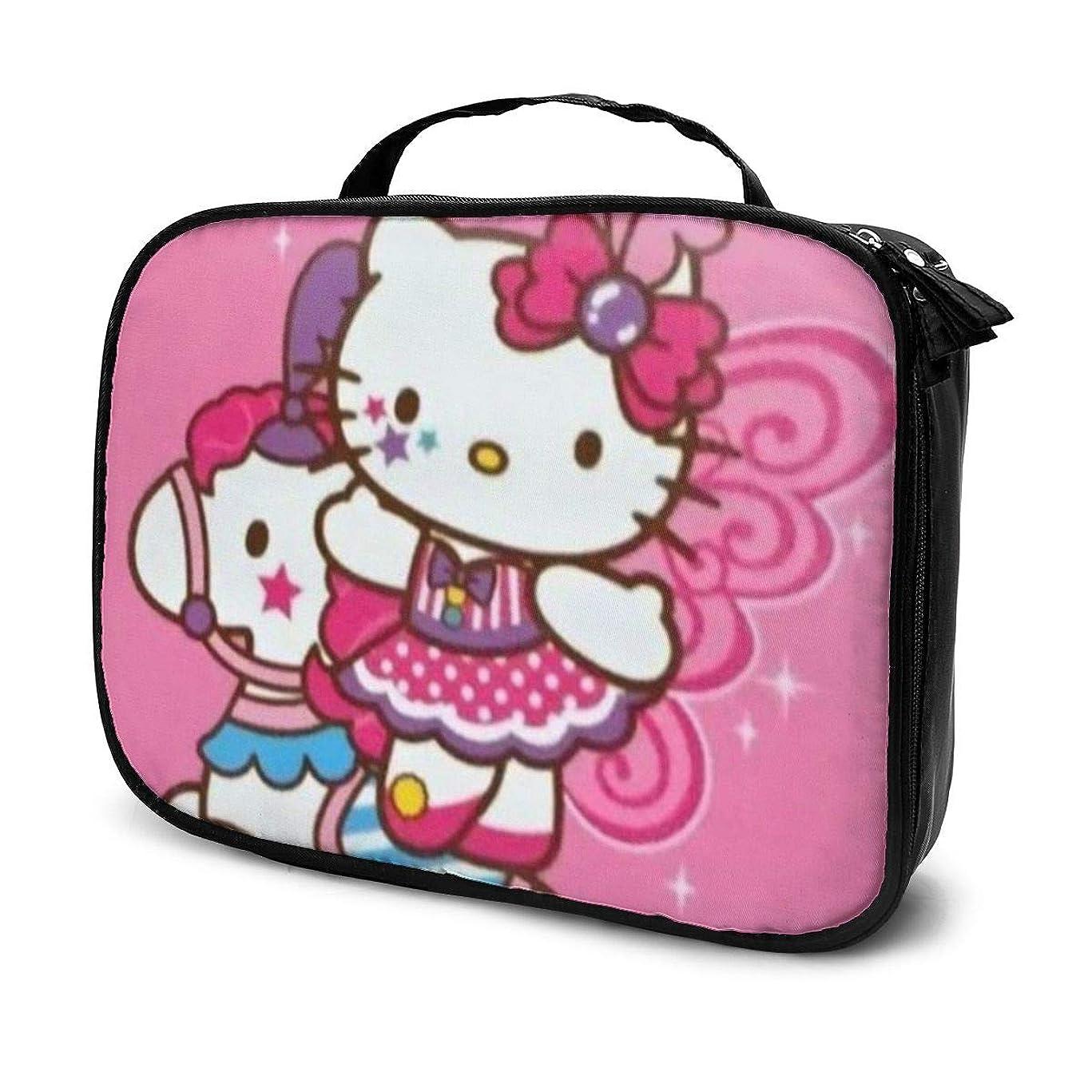 左バタフライ引退するDaituサーカスハローキティ 化粧品袋の女性旅行バッグ収納大容量防水アクセサリー旅行