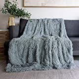 Faux Fur Throw Blanket with Long Hair Shaggy Decorative Faux Fur Blanket Cozy Baby Blanket Fit Couch Sofa Bed,Suitable for Spring,50' X 60' Soft Throw Blankets