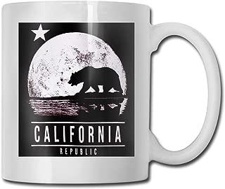 California Republic Moonwalk 11 Oz Ceramic Coffee Mugs Tea Cup