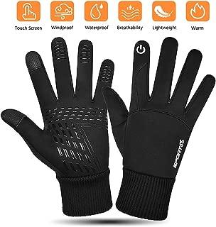 Winter Warm Sports Gloves Waterproof- Cycling Touch Screen Running Glove Lightweight Windproof Driving Work Gloves for Hiking Biking Climbing Snow Skiing Men Women