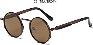 Men Sunglasses Retro Round Metal Frame Colorful Lens Sun Glasses Fashion Eyewear