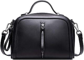Leather Handbags/Handbag/Fashion Spray Color Shoulder Diagonal Package/Bag Lady. jszzz (Color : Black)