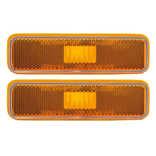 Pair of Front Signal Side Marker Light Lamp Replacement for Dodge Plymouth Pickup Truck 3587436 AutoAndArt