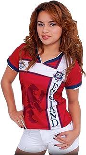 11d7f7d6f525d Arza Sports Playera de fútbol de Inglaterra para Mujer